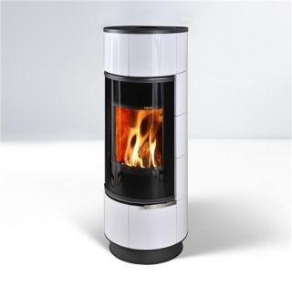 Piecyk na drewno Atika 7,5 kW - Thorma (2 KOLORY KAFLI  / serpentino) - Atika kafel biały