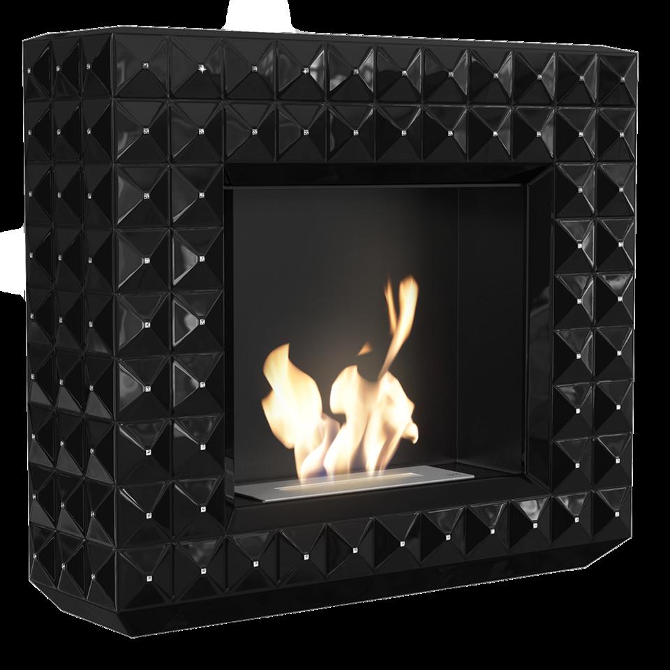 EGZUL z kryształami Swarovski czarny połysk